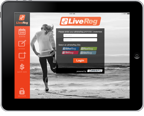 livereg on-site registration